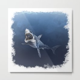 SHARK, Great white Metal Print
