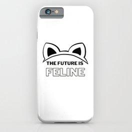 The Future is Feline iPhone Case