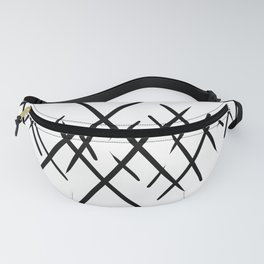 Cross Hatch Points Fanny Pack
