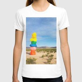 Vegas juxtaposed ~ Las Vegas desert art print 7 Magic Mountains T-shirt