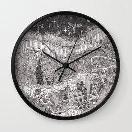 Imaginary Cityscape Wall Clock