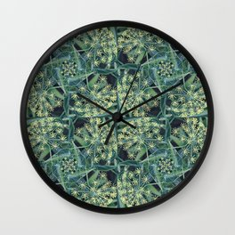 Green Herb Garden, Dill Flowers Wall Clock