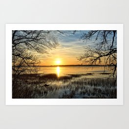 Clear Lake Sunrise Art Print