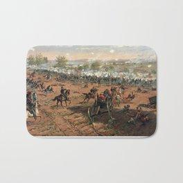 Civil War Battle of Gettysburg by Thure de Thulstrup (1887) Bath Mat
