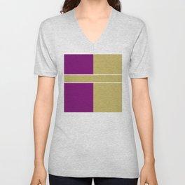 Team Color 6....Gold,purple Unisex V-Neck