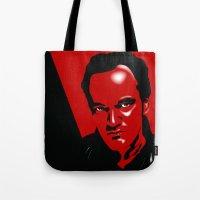 quentin tarantino Tote Bags featuring Tarantino by denrees