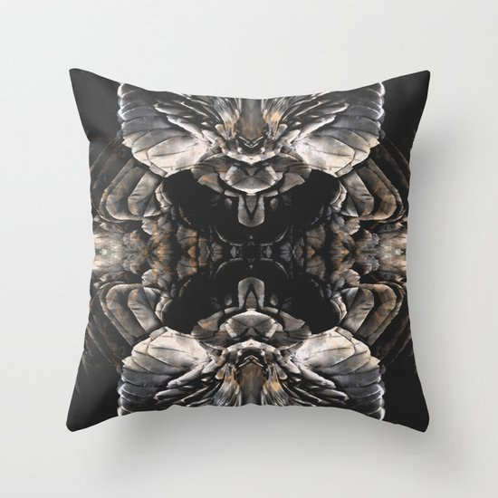 Dark Feathers Throw Pillow By Good Sense Society6