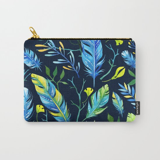 Feathers Pattern 06 Carry-All Pouch