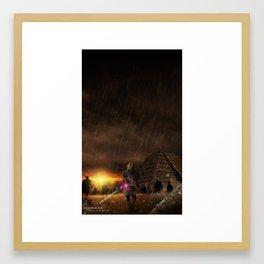 I will draw you into the dark world Framed Art Print