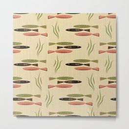 Mid Century Modern Fish Metal Print