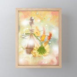Duft der Blume - farbig Framed Mini Art Print