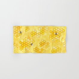Meant to Bee - Honey Bees Pattern Hand & Bath Towel