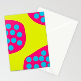 Green Purple Dots Stationery Cards
