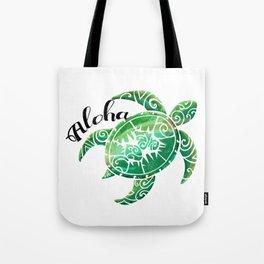 Vintage Hawaiian Distressed Turtle Tote Bag