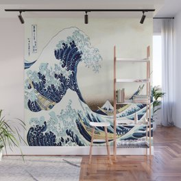 The Great Wave off KanagawA muted Wall Mural