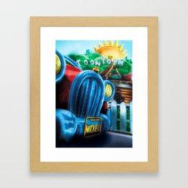 Mickey's Jalopy Framed Art Print