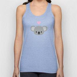 Cute koalas and pink hearts Unisex Tank Top