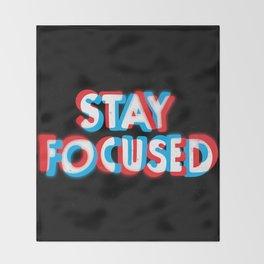 Stay Focused Throw Blanket