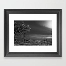 Black and White Field Framed Art Print