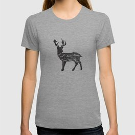 Venison Butcher Diagram-Deer T-shirt