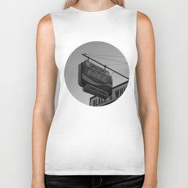 Black and White Grocery 2 Biker Tank