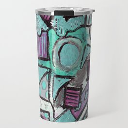 Geometry Dance - Pink & Teal Travel Mug