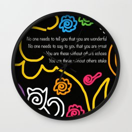 How Wonderful You Are Wall Clock