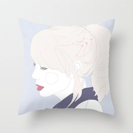 Chevrons and collars. Throw Pillow