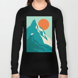 As the sun rises over the peak Long Sleeve T-shirt