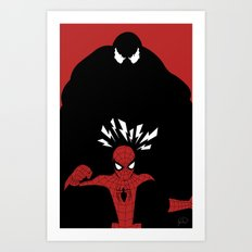 Spiderman (Amazing) vs Venom Art Print