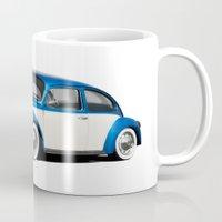 volkswagen Mugs featuring Volkswagen Beetle by cjsphotos