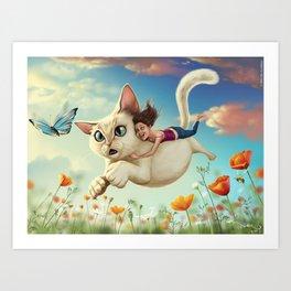 Catsy Art Print