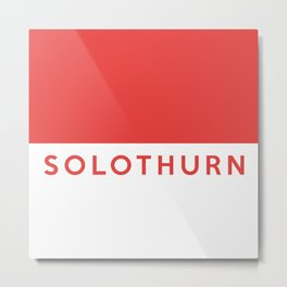 Solothurn region switzerland country flag name text swiss Metal Print