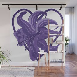 Purple Lily Wall Mural