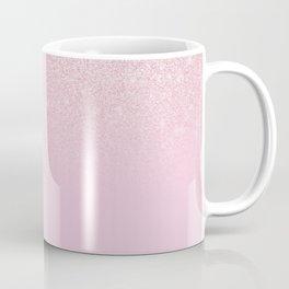 Elegant Girly Dusty Pink Rose Glitter Ombre Coffee Mug