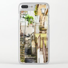 Blind alley Clear iPhone Case