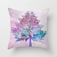 christmas tree Throw Pillows featuring Christmas Tree by Klara Acel