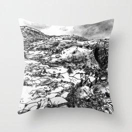 Desert_rocks Throw Pillow