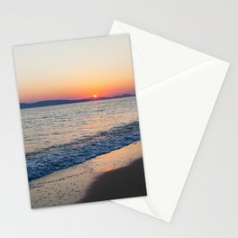 """Travel & beach photography """"sunset over the sea at Naxos island in Greece on a summer evening"""" fine art photo print in color.  Stationery Cards"""