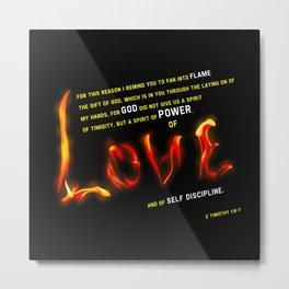 Love's Flame Metal Print