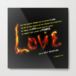 Love's Flame Metal Print