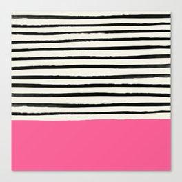 Watermelon & Stripes Canvas Print