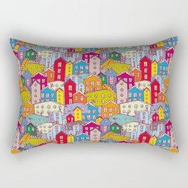 Cityscape Sketch Rectangular Pillow