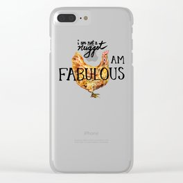 I AM FABULOUS Clear iPhone Case