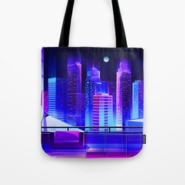 Synthwave Neon City #11 Tote Bag
