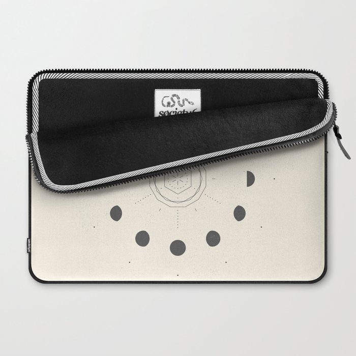 Moon Phases Light Laptop Sleeve