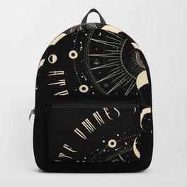 Witchcraft Gothic Geometric Sun Black Magic Backpack