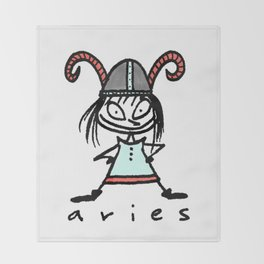 aries in the house(s)! Throw Blanket