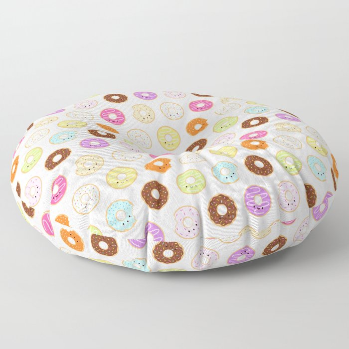 Happy Cute Donuts Pattern Floor Pillow
