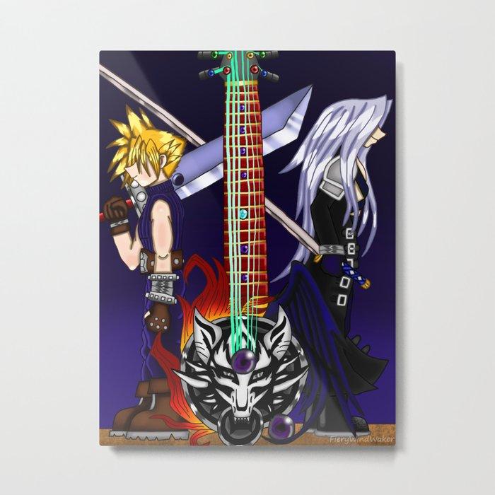 Fusion Keyblade Guitar #22 - Fenrir & One-Winged Angel Metal Print